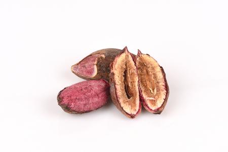 Tropical almond, Bengal almond, Indian almond, Sea almond, Beach almond (Terminalia catappa).seeds.
