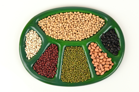 Grains and beans are healthy.