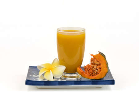 Pumpkin fruit and juices for healthy food.
