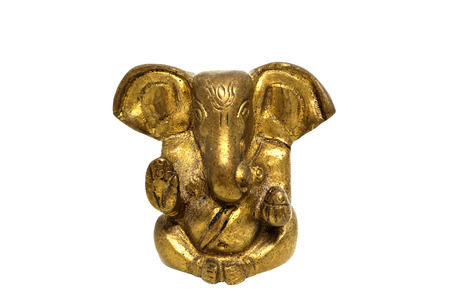 hinduist: Ganesha statue isolated on white background with clipping path Stock Photo