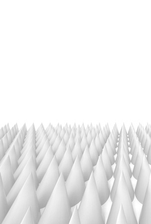 mirage: abstract spike floor background, cones geometric texture, 3d illustration. Stock Photo