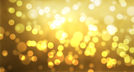 gold bokeh blurred abstract background. illustration.