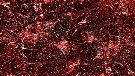 old red cobwebs on the wall looks like virus biohazard Stock Photo
