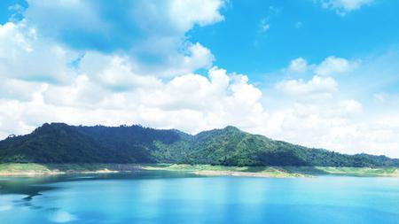 beautiful lake in thailand Stock Photo