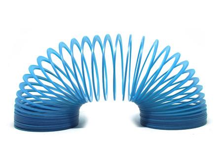 Juguete furtivo azul aislado sobre fondo blanco Foto de archivo - 79906581