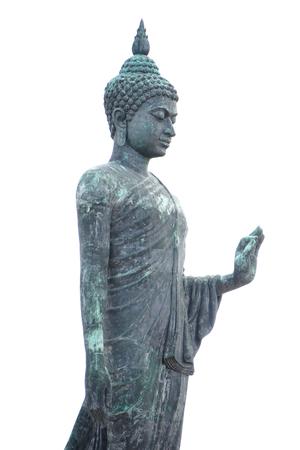 buddha statue isolated on white background Stock Photo