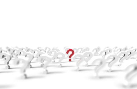 Group of question mark icon isolated on white background. Illustration. Stock Photo