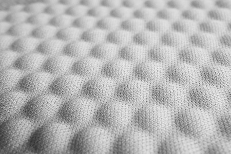 Gray convex nylon fabric pattern texture background. Stock Photo