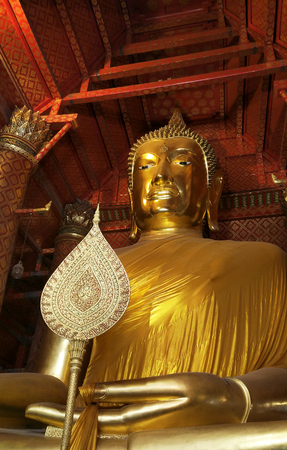 Buddha statue in pubic temple of thailand.
