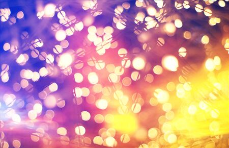 The Colorful bokeh blurred abstract pattern background.