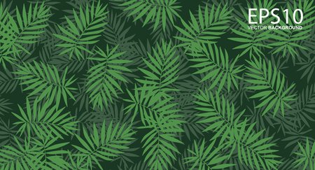 vertical garden with tropical green leaf pattern background