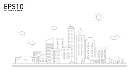 Cityscape. Landscape flat design concept.