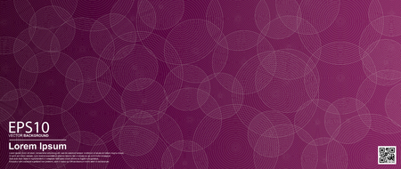Abstract vector circle pattern background. Purple / Poster, banner template. Illustration