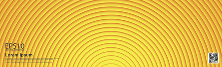 The abstract colorful gradient yellow color circle background.
