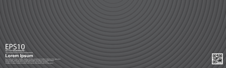 The abstract gradient dark gray color circle background. Ilustracja