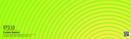 The abstract colorful gradient UFO Green color circle background. Ilustracja