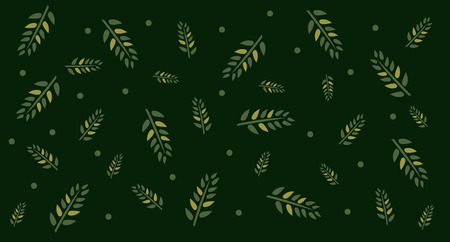 Tropical green leaf pattern background. PosterTemplate. Ilustracja