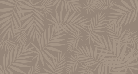 Tropical brown leaf pattern background. PosterTemplate. Ilustracja
