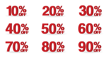Sale tag number for discount promotion.