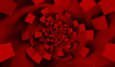 Red cubes abstract background pattern. 3d illustration. Foto de archivo - 119058916