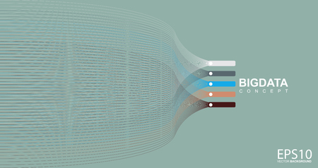 Bunte Linienmuster Hintergrund. Big-Data-Konzept.