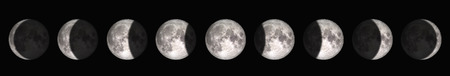 The period from full moon to new moon. Reklamní fotografie