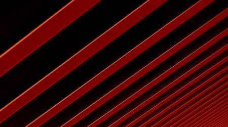 The abstract red metal pattern background. 3D illustration. Zdjęcie Seryjne - 128015005