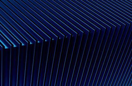 The abstract blue metal pattern background. 3D illustration. Zdjęcie Seryjne - 128015015