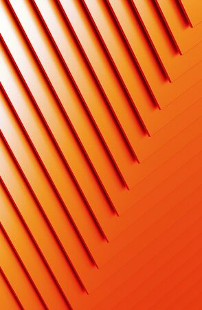The abstract orange metal pattern background. 3D illustration.
