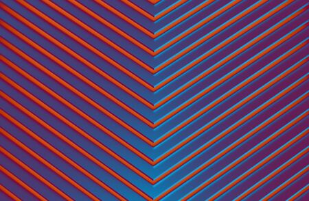 The abstract colorful metal pattern background. 3D illustration. Zdjęcie Seryjne - 128015024