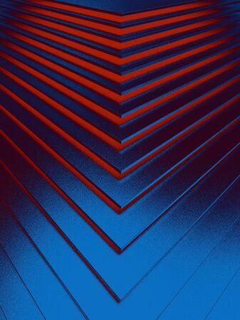 The abstract blue metal pattern background. 3D illustration. Zdjęcie Seryjne - 128015017