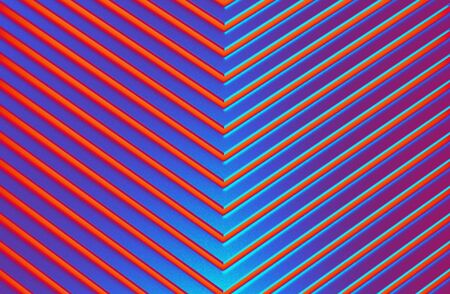 The abstract colorful metal pattern background. 3D illustration. Zdjęcie Seryjne