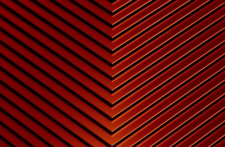 The abstract red metal pattern background. 3D illustration. Zdjęcie Seryjne