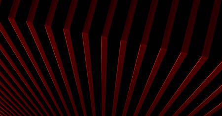 The abstract red metal pattern background. 3D illustration. Zdjęcie Seryjne - 128014740