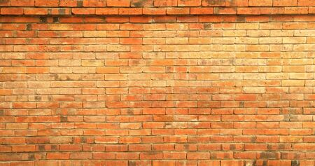 The brick wall pattern texture background.