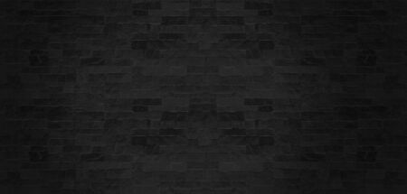 The black stone wall pattern texture background. 版權商用圖片