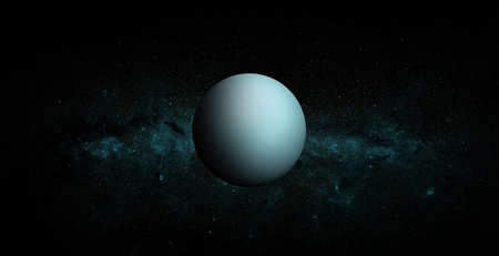 Uranus on space background.