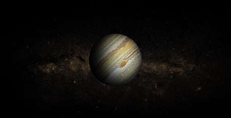 Jupiter on space background.