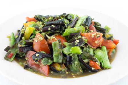 long bean: Long Bean Salad.Thai local cuisine