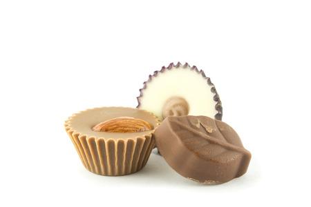 sweet segments: assorted gourmet chocolate Stock Photo