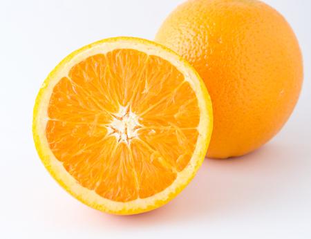 nontoxic: nontoxic orange on white background Stock Photo