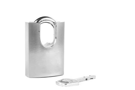 master: silver master key on white background