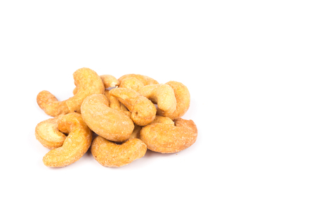 salted: salted and roasted cashew nuts