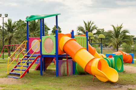 jungle gyms: Playground equipment in the park