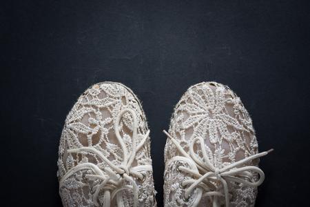 white Header shoe Stock Photo