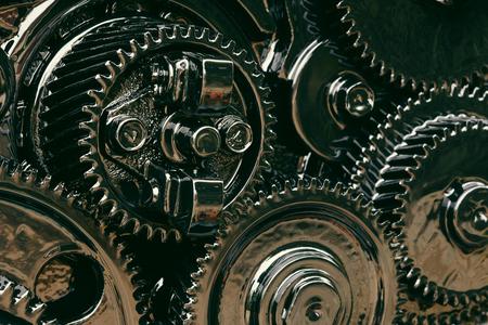 meta: inside gear Of the engine Stock Photo