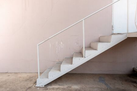 Steel stairs outside the building