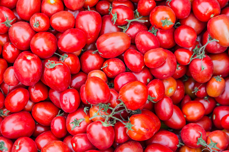 Pile of tomatoes for sale in local market