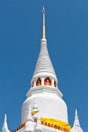 White Pagoda at Wat Phra ko , Songkhla , Thailand photo