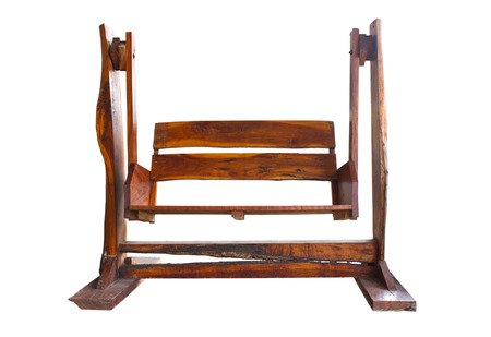 swing seat: Giardino in legno Altalena Sedile isolato